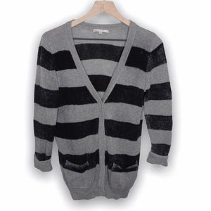 Gap black and gray long cardigan